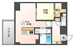 GLC平尾[6階]の間取り