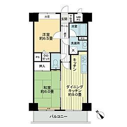 ライオンズマンション金沢駅西[9階]の間取り