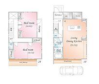 2LDK(4LDK対応可能) 建物面積:107.653m2 建物価格:2、500万円