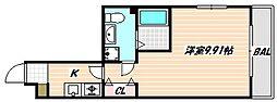 JR京葉線 南船橋駅 徒歩16分の賃貸アパート 3階1Kの間取り