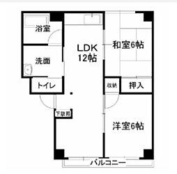 レジデンス下中野A棟[2階]の間取り