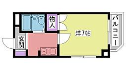 夙川ル・カンフリエ[306号室]の間取り