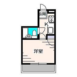 東京都東久留米市前沢3丁目の賃貸マンションの間取り