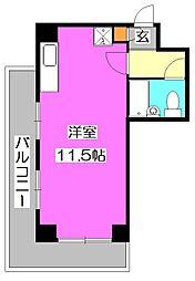 東京都東大和市新堀3丁目の賃貸マンションの間取り