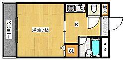 シェポールK&M[7階]の間取り