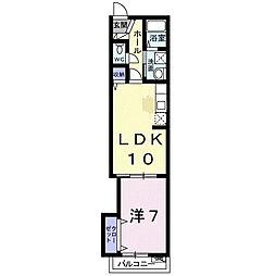 エムズグレイス7[3階]の間取り