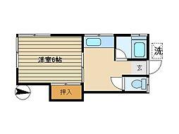 東京都豊島区東池袋5丁目の賃貸アパートの間取り