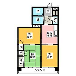グレースホリベ2[3階]の間取り