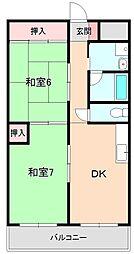 ハイツヤノウ[3階]の間取り