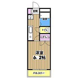 東京都立川市幸町4丁目の賃貸マンションの間取り