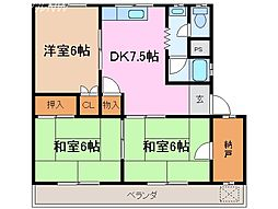 稲垣マンション[1階]の間取り