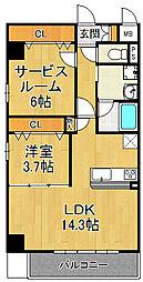コージー千島[5階]の間取り