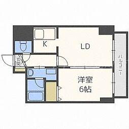北海道札幌市東区北十七条東1丁目の賃貸マンションの間取り