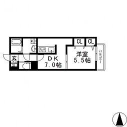 ケーティーハイツ A棟[A202号室号室]の間取り