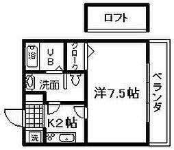 メディオ佐野[2階]の間取り