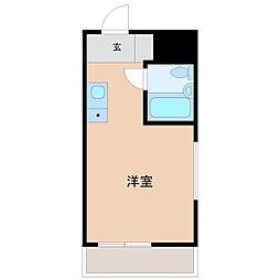 東京都世田谷区奥沢2丁目の賃貸マンションの間取り