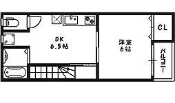 [テラスハウス] 大阪府大阪市北区長柄中2丁目 の賃貸【/】の間取り