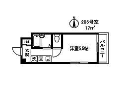 東京都品川区中延3丁目の賃貸マンションの間取り
