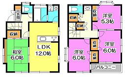[一戸建] 埼玉県富士見市水谷東3丁目 の賃貸【/】の間取り