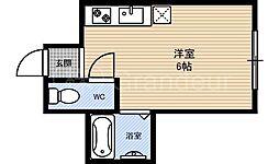 リベラル京橋[3階]の間取り