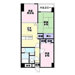 シャトー三和青山[1階]の間取り
