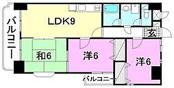 ジュネスKUBOTA[206 号室号室]の間取り