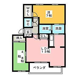 エターナルファインHK[2階]の間取り