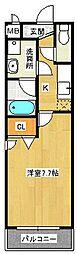 フジパレス初芝駅南II番館[2階]の間取り