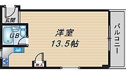 ラトーレ豊中[2階]の間取り