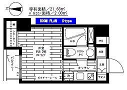 グランドコンシェルジュ錦糸町アジールコート[504号室]の間取り
