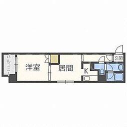 北海道札幌市北区北二十三条西3丁目の賃貸マンションの間取り
