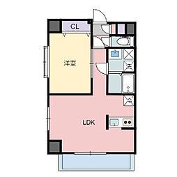 ティンクホームII 2階1LDKの間取り