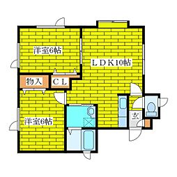 メゾン土居[2階]の間取り