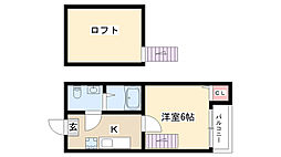 愛知県名古屋市南区柴田本通5丁目の賃貸アパートの間取り