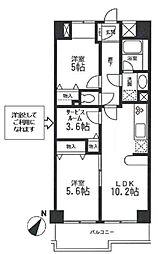 KDXレジデンス二子玉川 3階[3階]の間取り