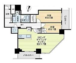 大阪ひびきの街ザ・サンクタスタワー[20階]の間取り