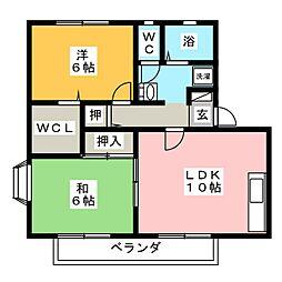 ロイヤルガーデンハイカムール[2階]の間取り
