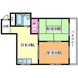 サンハイツ塚本[4階]の間取り