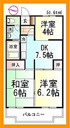 セジュール湘南[2階]の間取り