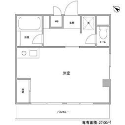 江田パークサイドマンション[405号室]の間取り