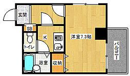 「グラン・ドムールJR丹波口駅前」[3階]の間取り