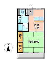 今渡川合アパート[1階]の間取り