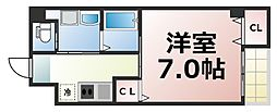 Osaka Metro千日前線 北巽駅 徒歩4分の賃貸マンション 4階1Kの間取り