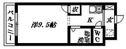 アップル第3マンション[206号室]の間取り