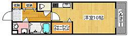 大阪府大阪市住之江区西加賀屋3丁目の賃貸マンションの間取り