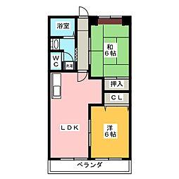 エステートヤマキ[3階]の間取り