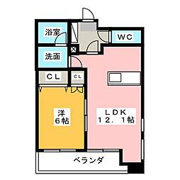 TRIBUTE元浜[5階]の間取り