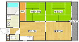 カワデンハイツIII[5階]の間取り