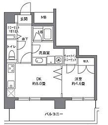 東京都港区白金台2丁目の賃貸マンションの間取り