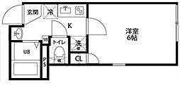 京成本線 千住大橋駅 徒歩2分の賃貸マンション 1階1Kの間取り